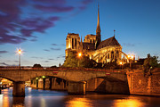 Cathedrals Prints - Cathedral Notre Dame Print by Brian Jannsen
