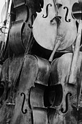 Violin Digital Art - 5 Cellos Black And White by Rob Hans