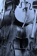 Violin Digital Art - 5 Cellos Cyan by Rob Hans