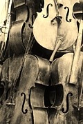 Violin Digital Art - 5 Cellos Sepia by Rob Hans