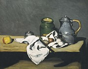 Cezanne; Nature Morte Posters - Cezanne, Paul 1839-1906. Still Life Poster by Everett