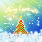 Greeting Digital Art - Chess Style Christmas Tree by Atiketta Sangasaeng