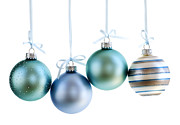 Glass Balls Posters - Christmas ornaments Poster by Elena Elisseeva