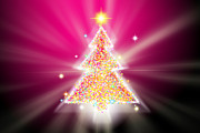 Modern Digital Art Originals - Christmas Tree by Atiketta Sangasaeng