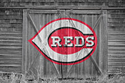 Glove Photo Framed Prints - Cincinnati Reds Framed Print by Joe Hamilton