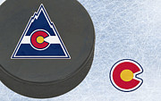 Puck Prints - Colorado Rockies Print by Joe Hamilton