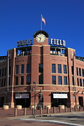 Colorado Flag Photos - Coors Field - Colorado Rockies by Frank Romeo