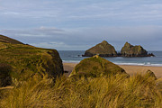 Atlantic Beaches Prints - Cornish Seascape Holywell Bay Print by Brian Roscorla