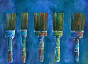 Barb Capeletti - 5 Dancing Paint Brushes