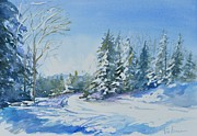 Cold Morning Sun Paintings - 5 Degree Dawn by Karen Lindeman