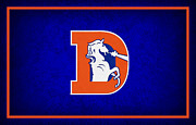 Broncos Metal Prints - Denver Broncos Metal Print by Joe Hamilton