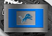 Lions Metal Prints - Detroit Lions Metal Print by Joe Hamilton