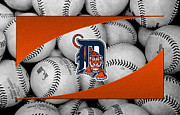 Baseball Bat Metal Prints - Detroit Tigers Metal Print by Joe Hamilton
