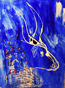 Africa Dinka Paintings - Dinka Livelihood - South Sudan by Gloria Ssali