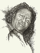 Pen And Pencil Drawings Drawings - Donna by Julie Ann Caldwell