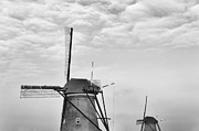 Old Mills Framed Prints - Dutch Windmills Framed Print by Hans Engbers