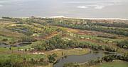 East Coast Aerial Near Jekyll Island Print by Betsy A  Cutler