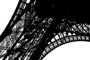 Steel Construction Posters - Eiffel Tower Poster by Chevy Fleet