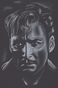 Los Angeles Pastels Framed Prints - Errol Flynn Framed Print by Inga Klein