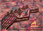 Lino Art - Fender Strat by William Cauthern