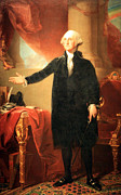 Dolley Posters - George Washington The Lansdowne Portrait Poster by Cora Wandel