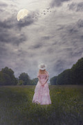 Princess Prints - Girl On Meadow Print by Joana Kruse