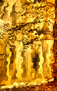 Dyestuff Prints - Golden forest Print by Odon Czintos