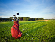 Golf Club Posters - Golf gear Poster by Michal Bednarek