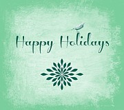 Holidays Mixed Media - Happy Holidays by Cathie Tyler