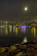 Mario Legaspi Metal Prints - Hazy Night Metal Print by Mario Legaspi