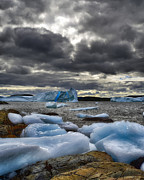 Icebergs Art - Icebergs at St. Anthony by Steve Hurt