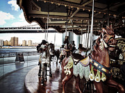 Brooklyn Bridge Digital Art Metal Prints - Janes Carousel Metal Print by Natasha Marco