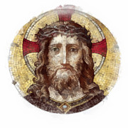 Religious Mosaic Mixed Media Posters - Jesus Christ Poster by Michal Boubin