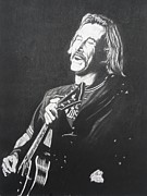 Featured Drawings - Jimmy Buffet 1975 by Charles Rogers
