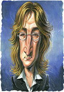 Caricature Painting Framed Prints - John Lennon Framed Print by Art