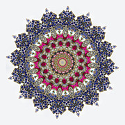 Kaleidoscope Colorful Jeweled Rhinestones Print by Amy Cicconi