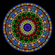 Window Posters - Kaleidoscope Stained Glass Window Series Poster by Amy Cicconi