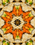 Carrots Prints - Kaleidoscope Vegetable Sushi Print by Amy Cicconi