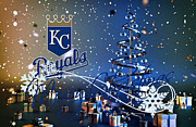 Glove Prints - Kansas City Royals Print by Joe Hamilton