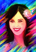 Katy Perry Painting Posters - Katy Perry Poster by Bogdan Floridana Oana