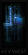 Night Lamp Prints - Key West Florida - Blue Heaven Rendezvous Print by John Stephens