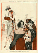 Featured Metal Prints - La Vie Parisienne 1924 1920s France A Metal Print by The Advertising Archives