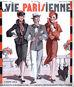 Featured Acrylic Prints - La Vie Parisienne 1935 1930s France Acrylic Print by The Advertising Archives