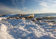 Michigan Art - Lake Michigan Shoreline by Daniel L Burlingame