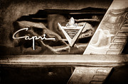 Lincoln Photos Prints - Lincoln Capri Emblem Print by Jill Reger