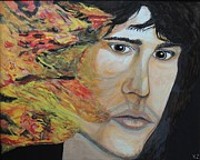 Jim Morrison Prints - Lizard king light my fire. Print by Ken Zabel