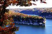 Nicholas County Framed Prints - Long Point Summersville Lake Framed Print by Thomas R Fletcher