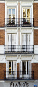Old Houses Metal Prints - Madrid Metal Print by Frank Tschakert