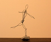 Jumping Sculptures - Man Jumping by Mel Drucker