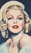 Movie Star Painting Originals - Marilyn Monroe by Shirl Theis